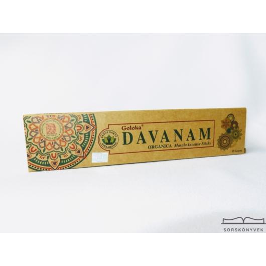 Goloka Davanam Organikus füstölő 15g