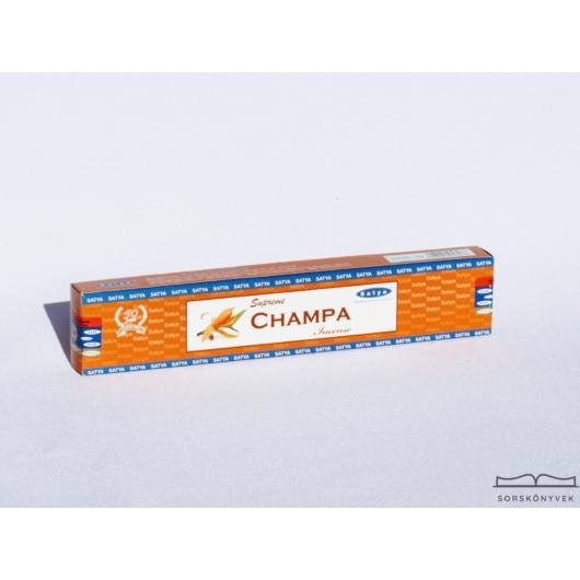 Satya Supreme Champa Frangipáni füstölő, 15g