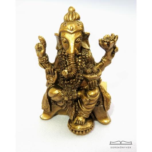 Áldást adó Ganésa szobor, 6cm