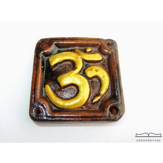 Om arany kerámia füstölőtartó 6cm