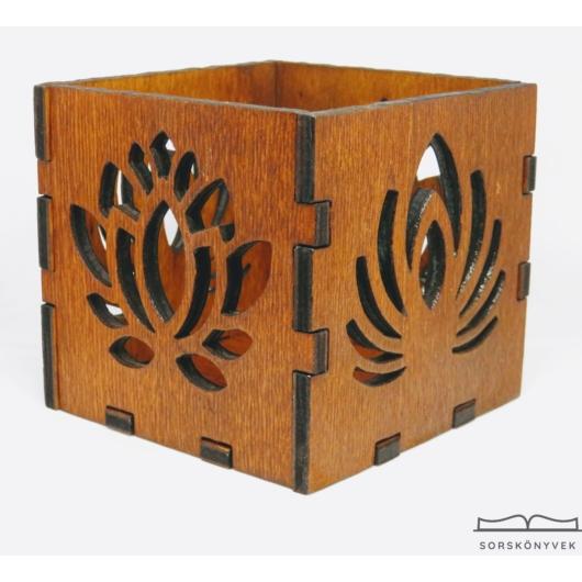 Fa kézműves mécsestartó