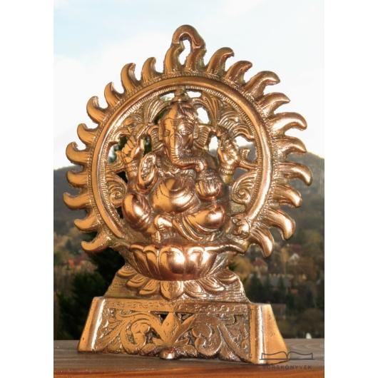 Nagy Ganésa szobor, fém, 22cm