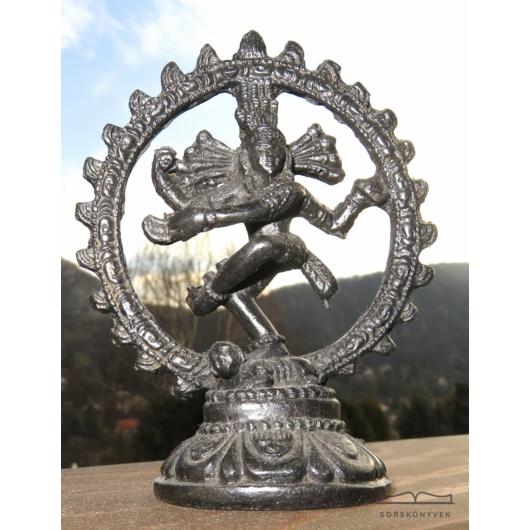 Táncoló Siva Nataradzsa szobor, sötét, 11cm