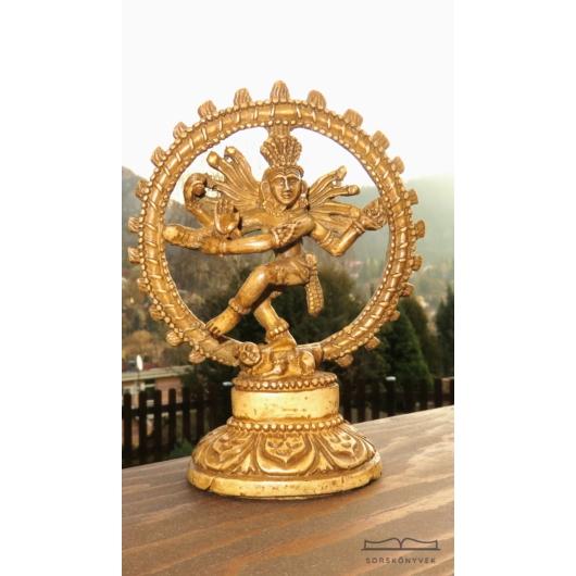 Táncoló Siva Nataradzsa szobor, világos, 14cm