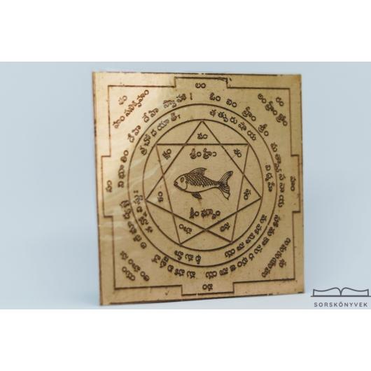 Matsya yantra, 5 elem harmóniája, védelem, 7,5cm
