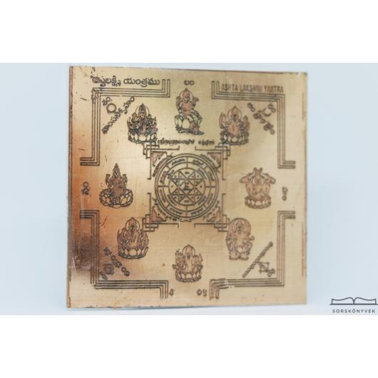 Astha Lakshmi yantra, gazdagság, nőiesség, termékenység, bőség, 7,5cm