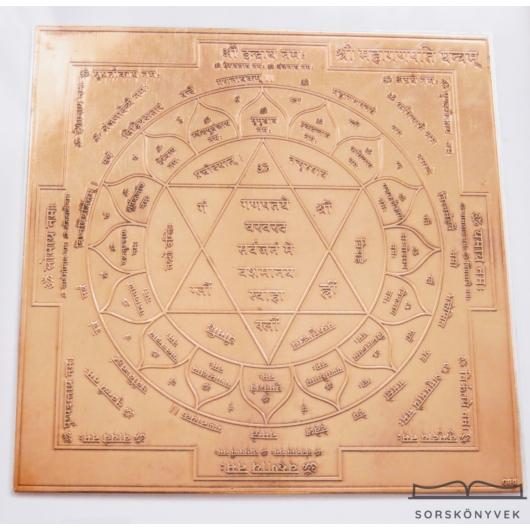 Mahalakshmi yantra, gazdagság, nőiesség, termékenység, bőség, 12,5 cm